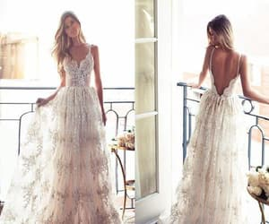wedding dress sexy, wedding dress a-line, and long party dresses image
