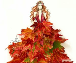 art, fashion, and leaves image