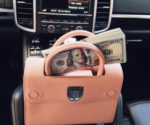 girl, bag, and car image
