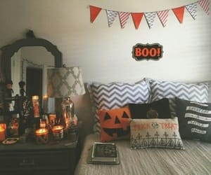 Halloween, autumn, and room image