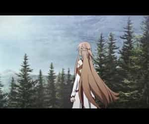 amv, sword art online, and music image