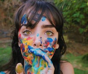 girl, eyes, and art image