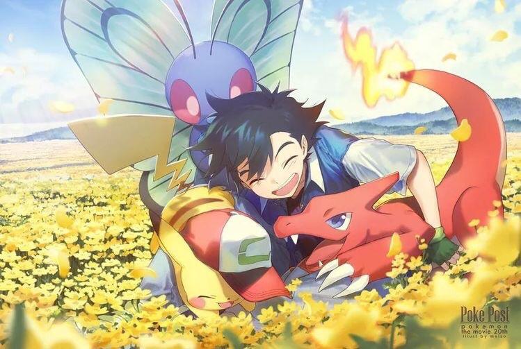 anime, anime boy, and satoshi image