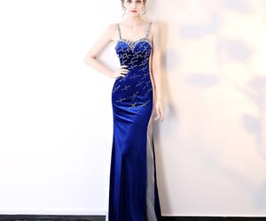 evening dress, evening dresses, and girl image