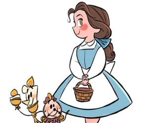 art, belle, and disney image