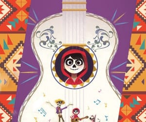 coco, guitar, and disney image