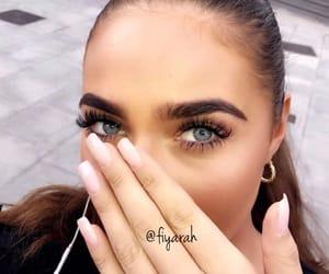beautiful blue eye, turkish turkey, and makeup on fleek image