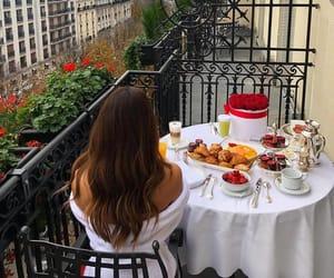 breakfast, hair, and paris image