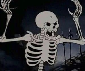 skeleton, gif, and skull image