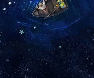 aesthetic, boat, and stars image