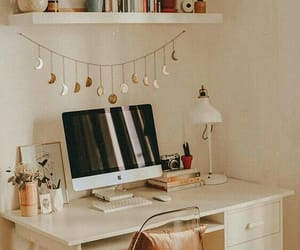 decor, desk, and home image