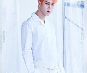 orange hair, monsta x, and jooheon image