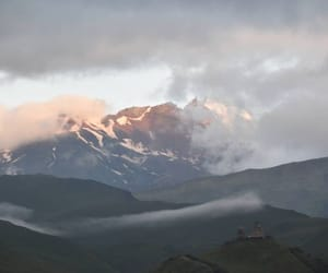 clouds, landscapes, and mountain image