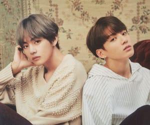 idol, kpop, and v image