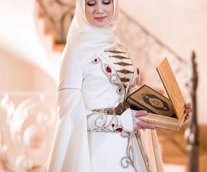 hijab, long dress, and muslim image