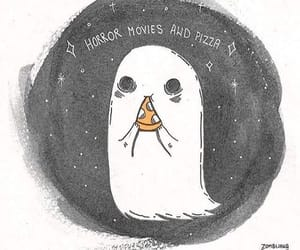 ghost, pizza, and Halloween image
