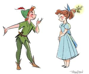 art, tinkerbell, and wendy darling image
