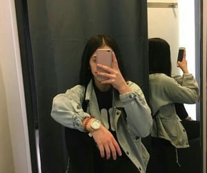 girl, mirror, and selfie image