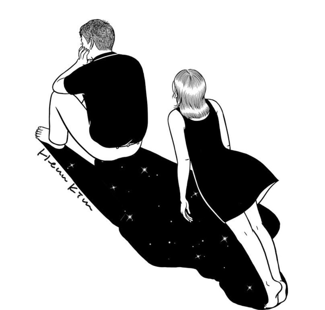 Imagen de art, black and white, and creative