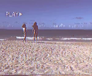 beach, girls, and vhs image