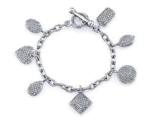 bracelet, diamond, and silver image