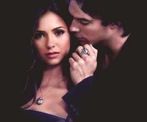the vampire diaries, ian somerhalder, and Nina Dobrev image