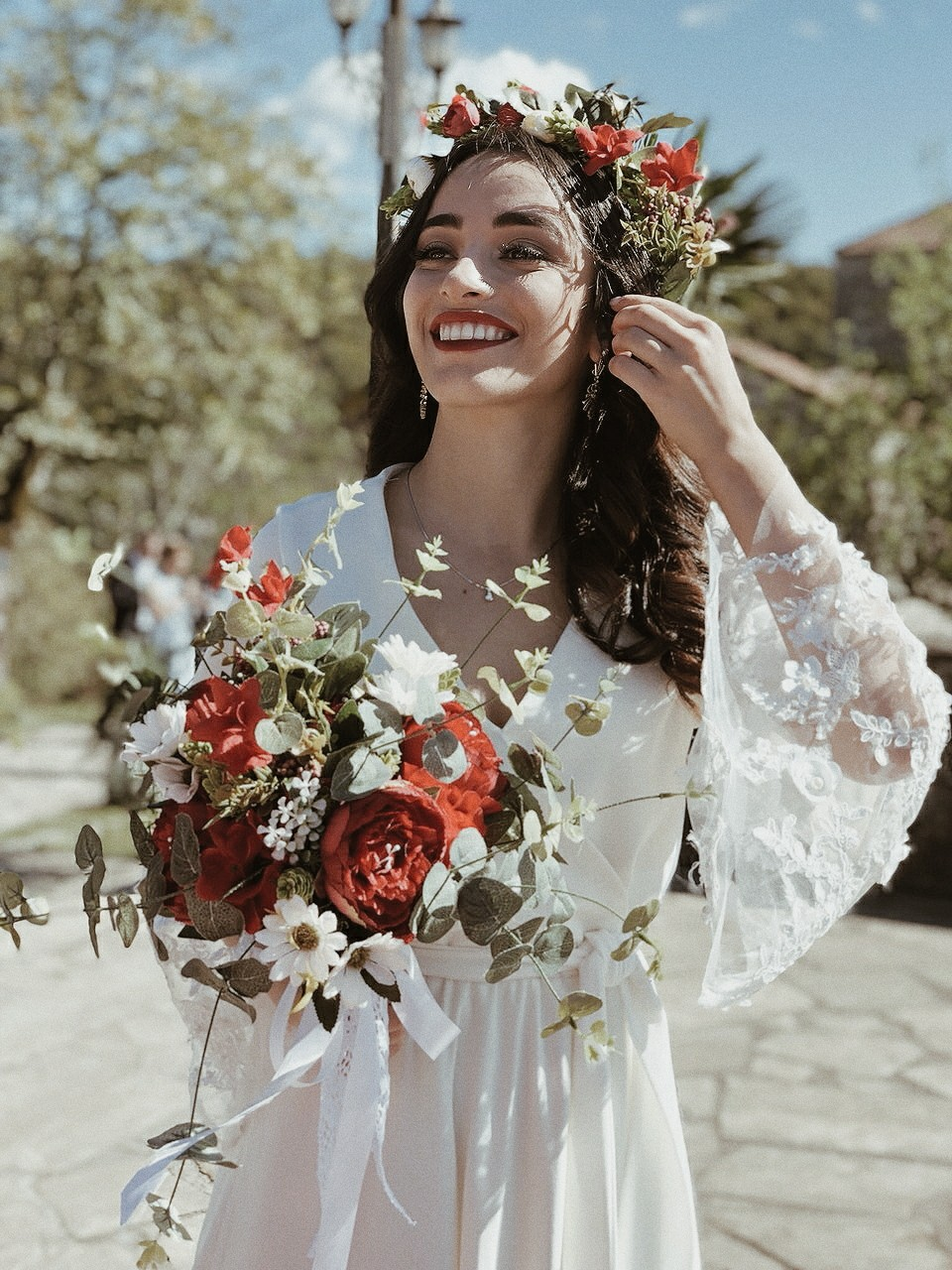 beautiful, bride, and crown image