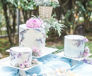 cakes, dessert, and floral image
