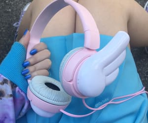 headphones, kawaii, and cute image