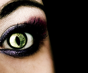 eye, green, and scary image