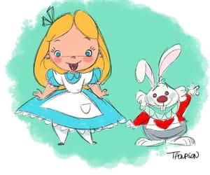 alice, heroine, and white rabbit image