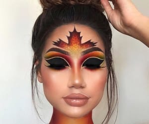 makeup, autumn, and girl image