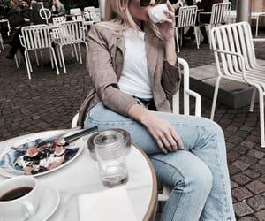 cafe, denim, and food image