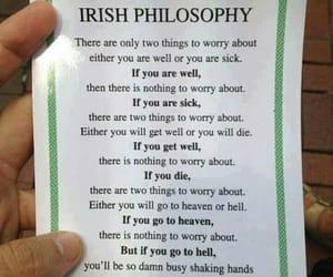irish, philosophy, and worry image
