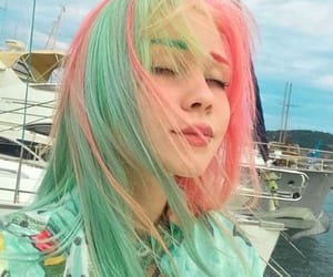 colorful, hair, and icon image