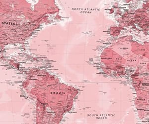 pink, map, and wallpaper image