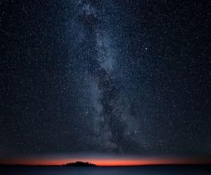 galaxy, stars, and nature image