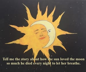 quotes, moon, and sun image