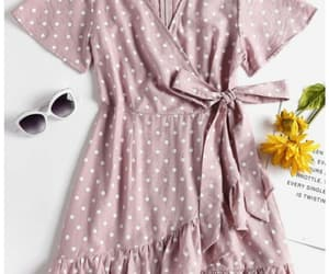 dress, pois, and outfit image