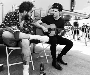 shawn mendes, post malone, and guitar image