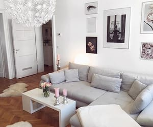 couch, grey, and home image