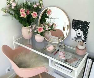 home, pink, and rose image