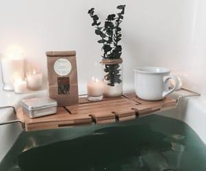 bath, candles, and eucalyptus image