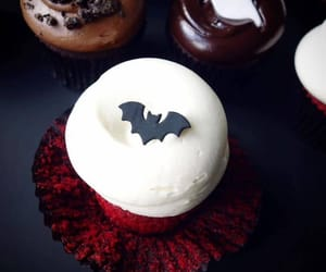 cupcake, bat, and fall image