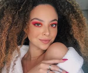 beauty, curly hair, and makeup image