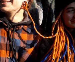 couple, dreads, and stretched ears image