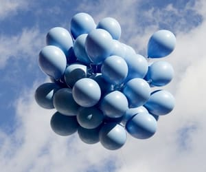 blue, sky, and balloons image