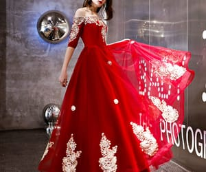 off-the-shoulder, appliques lace, and a-line princess image