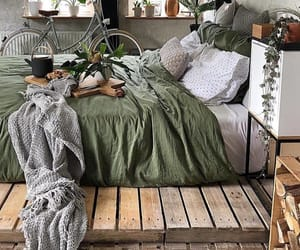 bed, room, and room inspo image