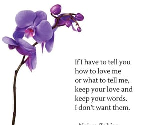 flower, purple, and quote image